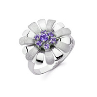 Sterling Silver Floral Ring, Sterling Silver, Floral Ring, Floral, Flower, Flowers, Flower Ring, Floral Design, Various Stones