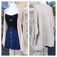 A Sweater Weather Cardi in Cream