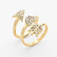 Arrow Wrap Knuckle Ring Gold