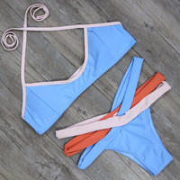 Design Dyes Bandage Bikini Set Bathing Suit