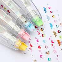 Creative Stationery Push Correction Tape Lace for Key Tags Sign School Supplies