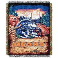 Chicago Bears NFL Woven Tapestry Throw (Home Field Advantage) (48x60)