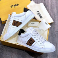 Fendi Fashion Men sports board small white leisure shoes