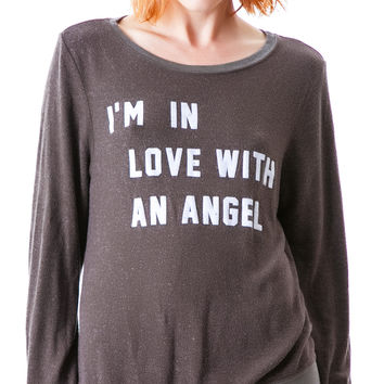 Wildfox Couture I'm In Love With An Angel Baggy Beach Jumper Firestone