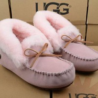 UGG Women Fashion Wool Snow Boots Calfskin Shoes-9