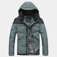 Winter Men Puffer Jacket with Hood