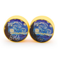 Starry Night Yellow Plugs (2mm-25mm)