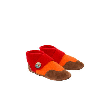 Felted Wool Slippers, Mary Jane Slhoes