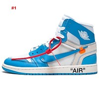 Air Jordan 1 Basketball OG Sneakers Luxury Designer Men Sports Shoes Top Quality Training Basketball Shoes with Box