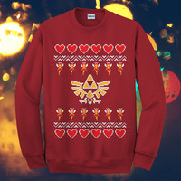 The Legend Of Zelda Art Love Christmas Design Sweater, image, fashion, game, gift, ON ETSY