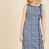 Classified Chic Sheath Dress in Ultramarine | Mod Retro Vintage Dresses | ModCloth.com