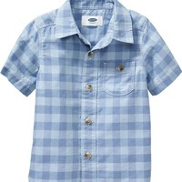 Old Navy Short Sleeve Gingham Shirts For Baby