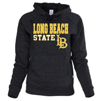 Official NCAA California State University Long Beach 49ers CSULB Prospector Pete Women's Buttersoft Tri- Blend Hooded Sw