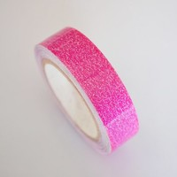 Lychee Craft Glitter Rose Red Sparkle Flake Vinyl Tape Deco Washi Tapes