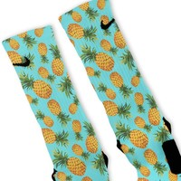 Pineapple Paradise Custom Nike Elite Socks