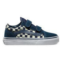 Vans Kids Checkerboard Old Skool V (dress blues/glow in the dark)