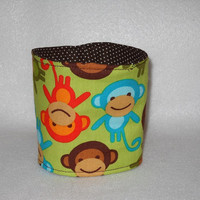 Slip-On Coffee Cozy Made With Monkey Fabric