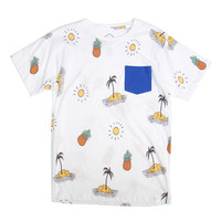 Palm and Pineapple Repeat Tee