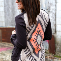 Charcoal + Aztec Back {Military Jacket}