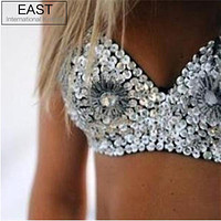 Stud chrysanthemum Bra Metallic