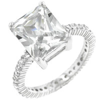 Radiant Cut Engagement Ring, size : 10