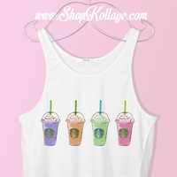 Colorful Frappuccino Crop Tank Top