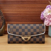 LV Louis Vuitton ladies fashion leather handbag clutch bag card credit card wallet