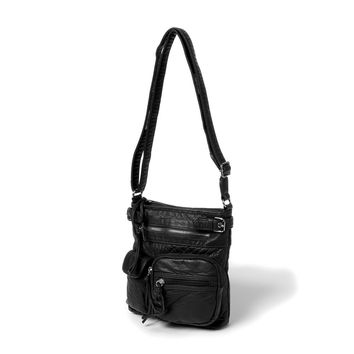 San Francisco Faux Leather Crossbody Bag    Icing