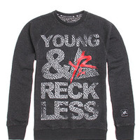 Young and Reckless Blocked Out Cement Crew Fleece at PacSun.com