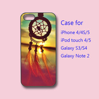 Dream Catcher and sea - samsung galaxy S4 case ,galaxy S3 case, galaxy note 2 case, iPhone 4 case, iPhone 5 case, ipod touch 4, ipod 5 case