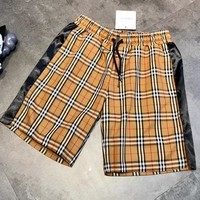 BURBERRY Summer Hot Sale Women Men Classic Plaid Print Sport Shorts