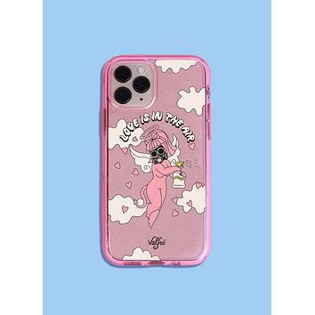 Love Is In The Air Glitter Phone Case