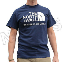 North Wall Winter Game of the Thrones Inspired Men's Ladies T-Shirts S-XXL