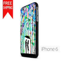 Love Song Romantic In The Rain Paint NN iPhone 6 Case