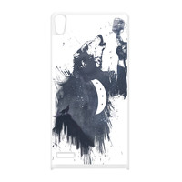 Wolf Song 3 White Silicon Rubber Case for Huawei P6 by Balazs Solti