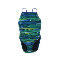 Speedo Womens Printed Race II One-Piece Swimsuit