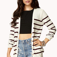 Brenton Striped Button Cardigan
