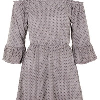 Geometric Gypsy Fluted Sleeve Dress - New In This Week - New In