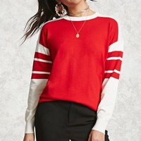 Varsity Striped Knit Sweater