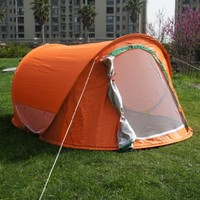 Orange Color Large Pop Up Backpacking Camping Hiking Tent Automatic Instant Setup Easy Fold back:Amazon:Sports & Outdoors