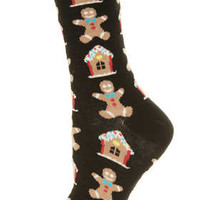 Gingerbread Man Ankle Socks - Tights & Socks  - Clothing