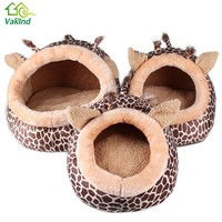 S M L Pet Products Warm Soft Dog House Pet Sleeping Bag Leopard Dog Kennel Cat Bed Cat House Pet Supplies