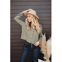 Country Sunset Button Down (Olive)