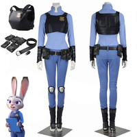MMY anime Movie Zootopia Cosplay Judy Hopps Zootopia Costume Women Halloween Carnival Cosplay Costume Outfit   Made cartoon