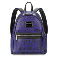 Disney Haunted Mansion Wallpaper Mini Backpack by Loungefly New with Tags