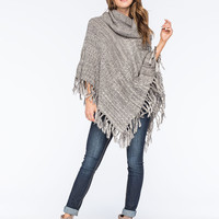 WOVEN HEART Marled Cowl Womens Poncho Sweater | Ponchos