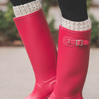 Live For Rain Tall Buckle Rain Boots