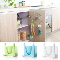 Cooking Tool Hot 1PCS Plastic kitchen accessories Pot Pan Cover Shell Cover Sucker Tool Bracket Storage Holder Rack Oct11
