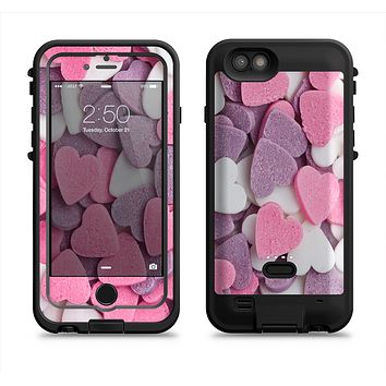 The Pink and Purple Candy Hearts  iPhone 6/6s Plus LifeProof Fre POWER Case Skin Kit