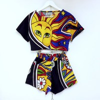 SALE! Bohemian sun print co ord two piece. Non stretch ...